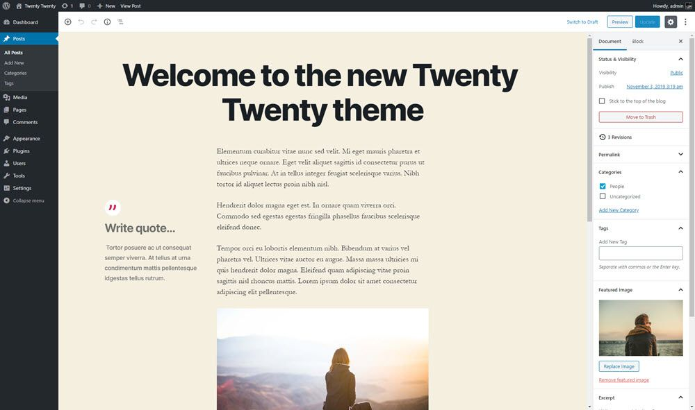 Block Editor styles for Twenty Twenty