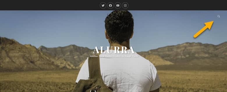 screenshot showing where the search icon is for Alurra
