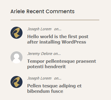 Ariele comments widget