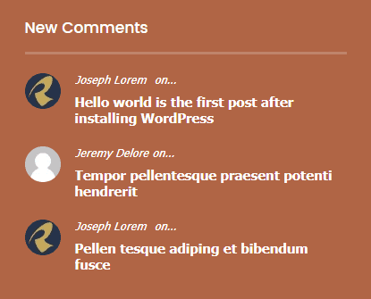 Ariele comments widget in the footer