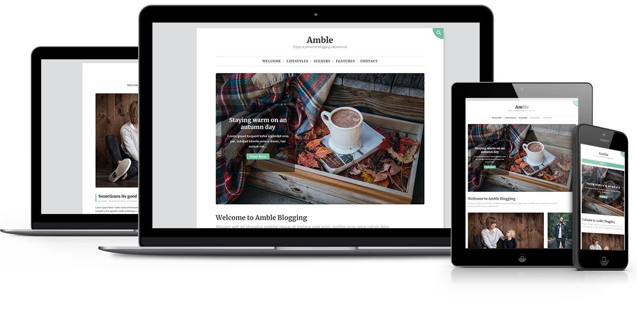 Amble WordPress theme