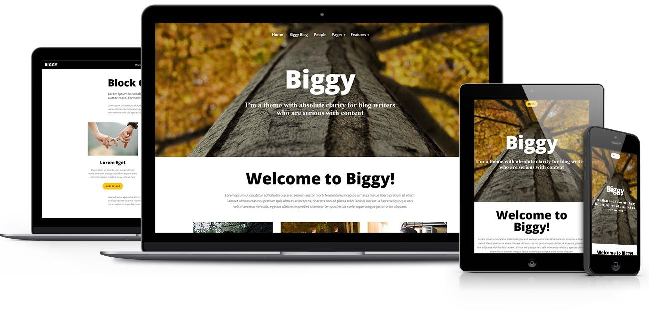 Biggy Gutenberg theme