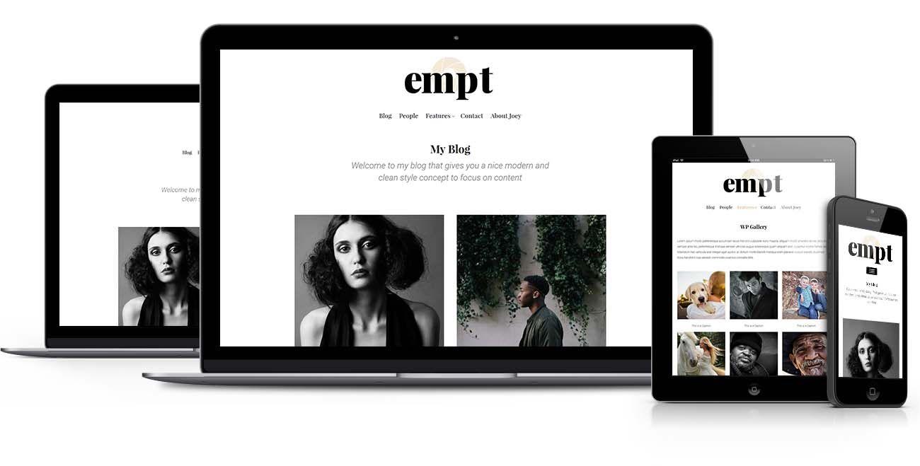 Empt WordPress theme