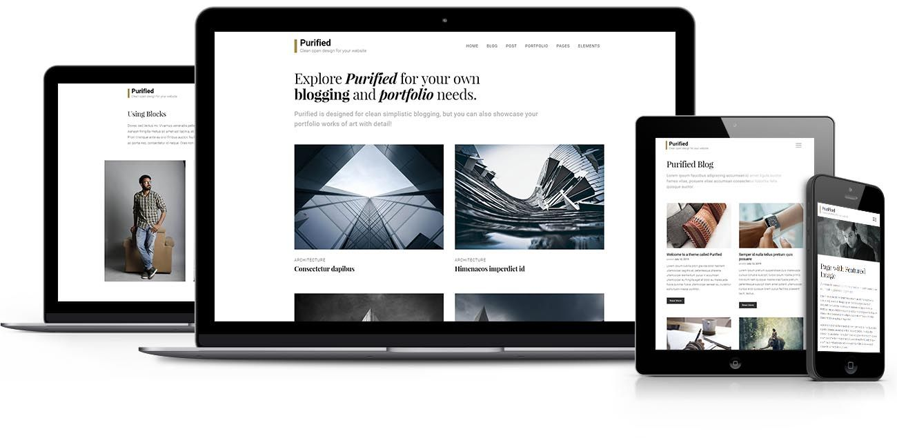 Purified WordPress theme
