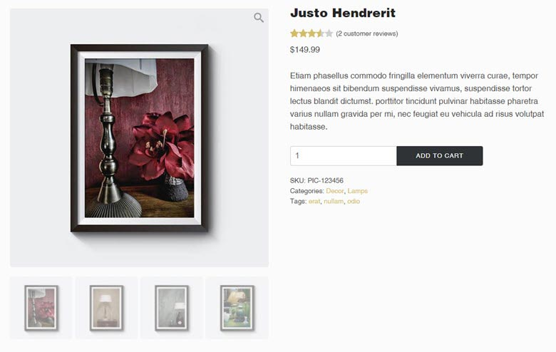 Definite WooCommerce single product view with a gallery