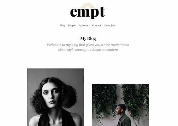 screenshot of the Empt theme