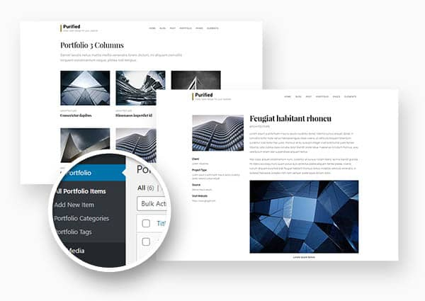 Purified portfolio feature