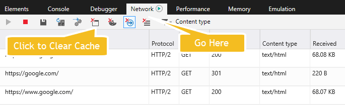 MS Edge Webmaster Tools Cache