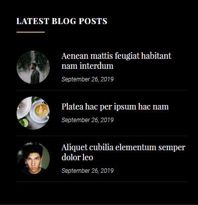 Empt recent posts in footer