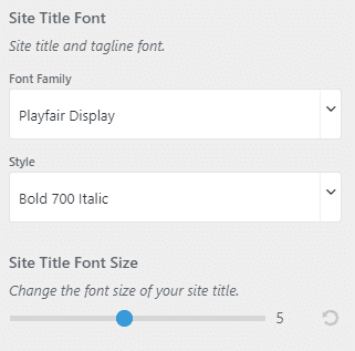 Empt site title font styling
