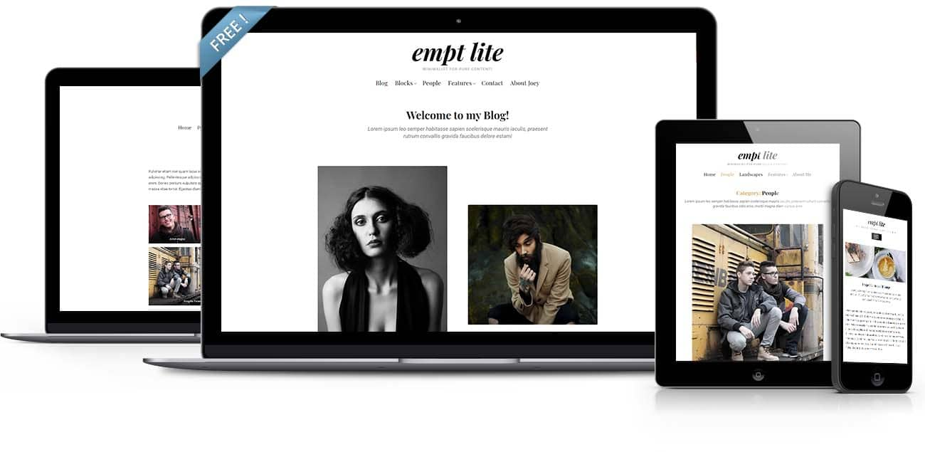 Empt Lite - A free WordPress theme for clean minimalist bloggers