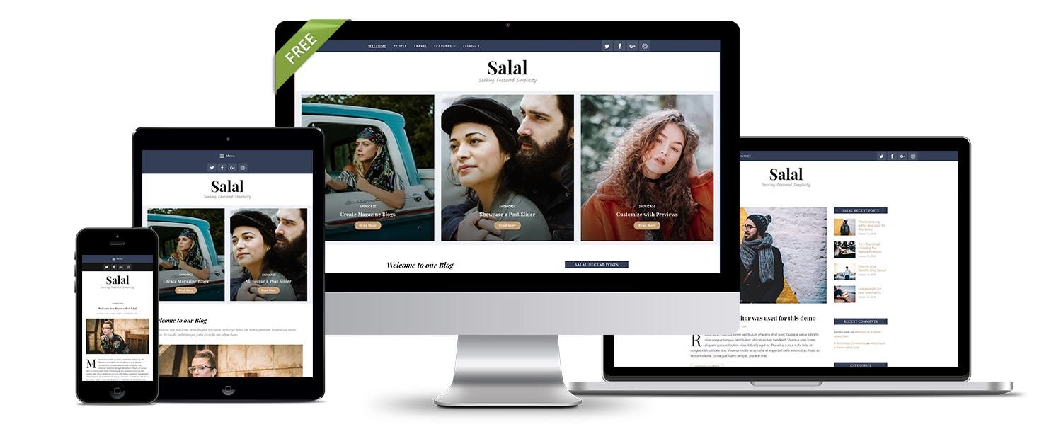 Free WordPress theme Salal