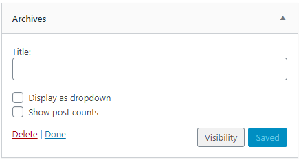 Widget Visibility button