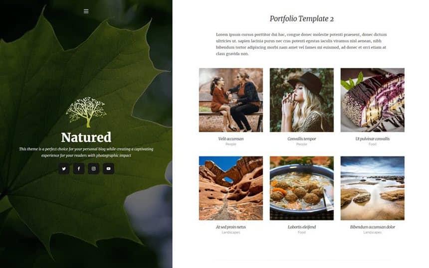 Natured portfolio example