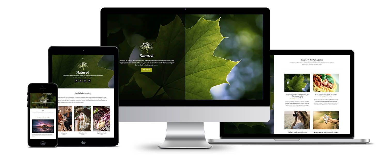 Natured WordPress theme screenshot
