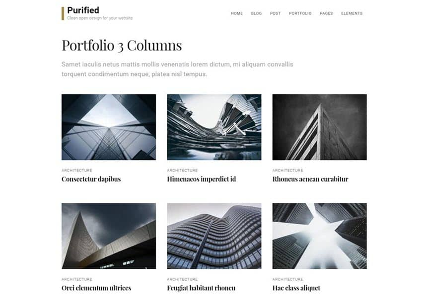 Purified Portfolio example