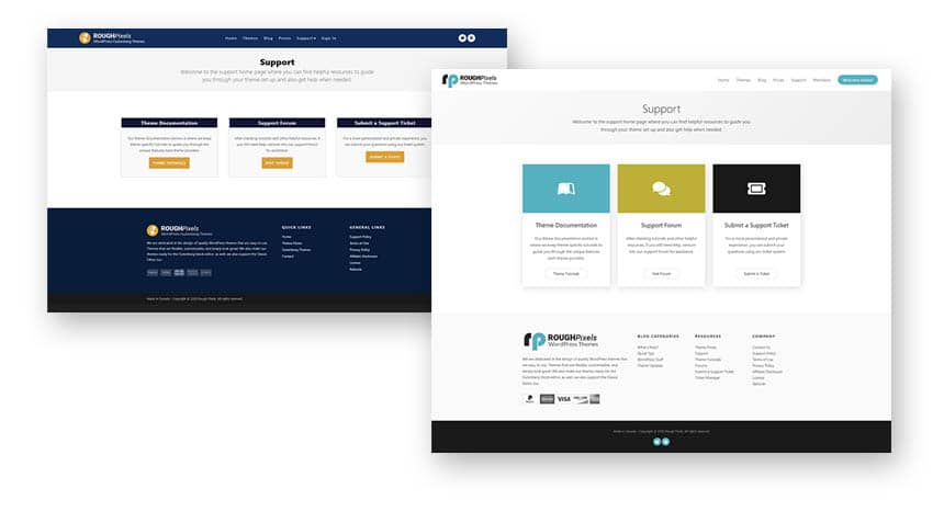 Redesigned support home page