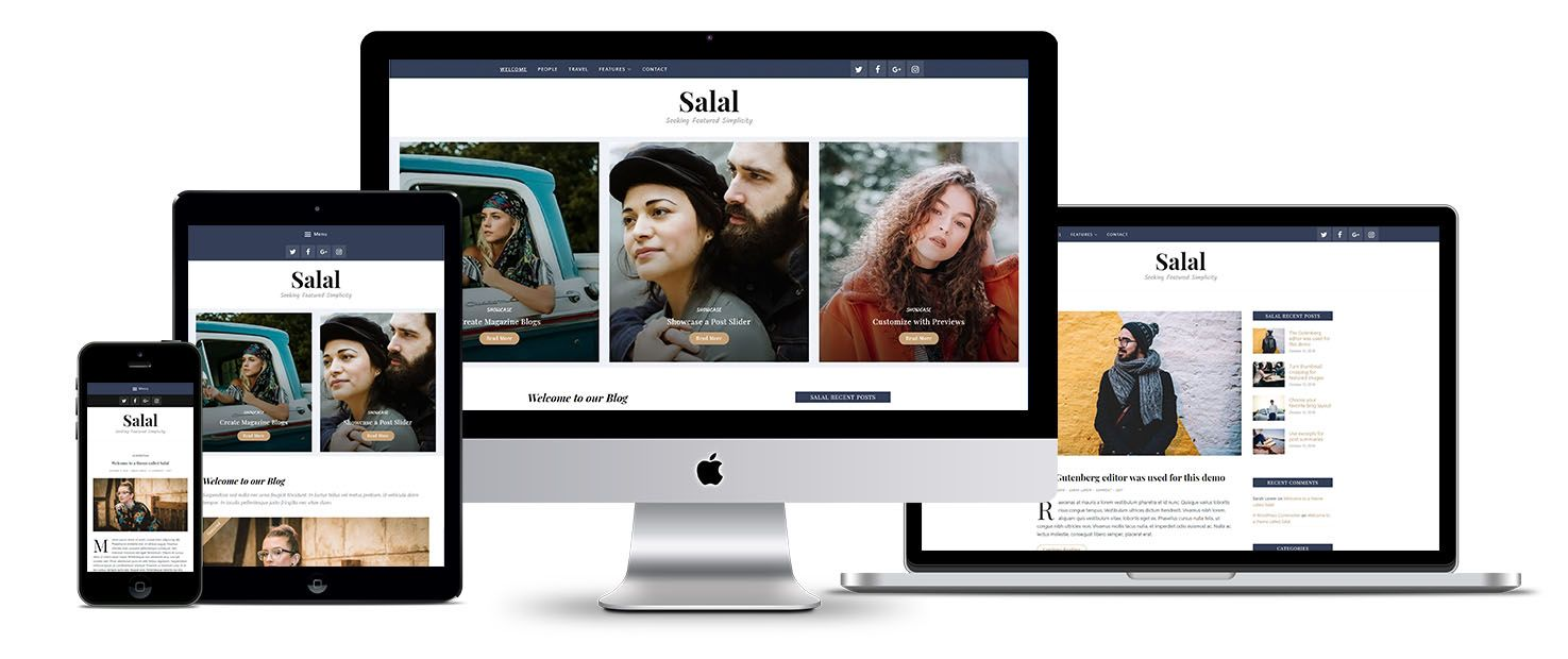 Salal Gutenberg WordPress theme screenshot