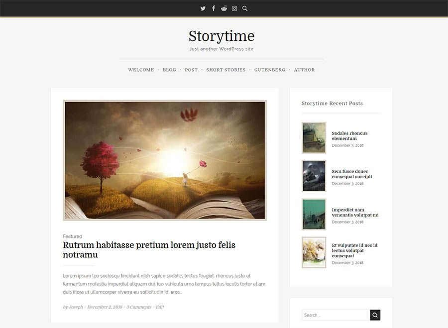 free wordpress theme - storytime