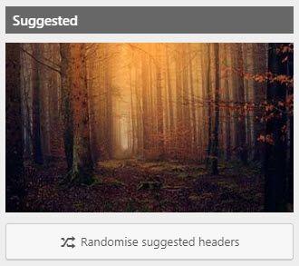 Splash page photo setting with randomize option