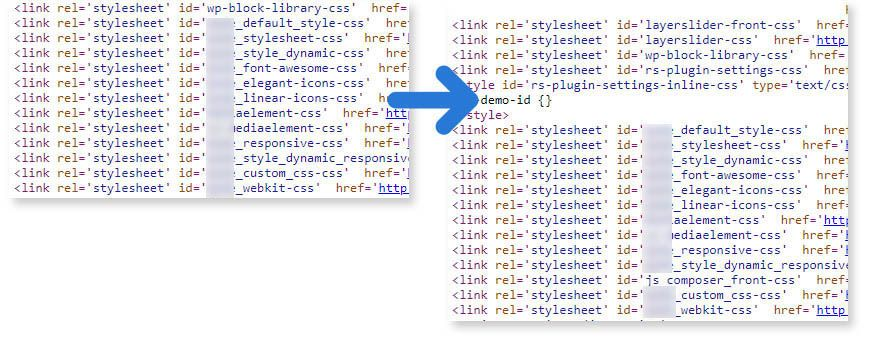 theme loaded stylesheets