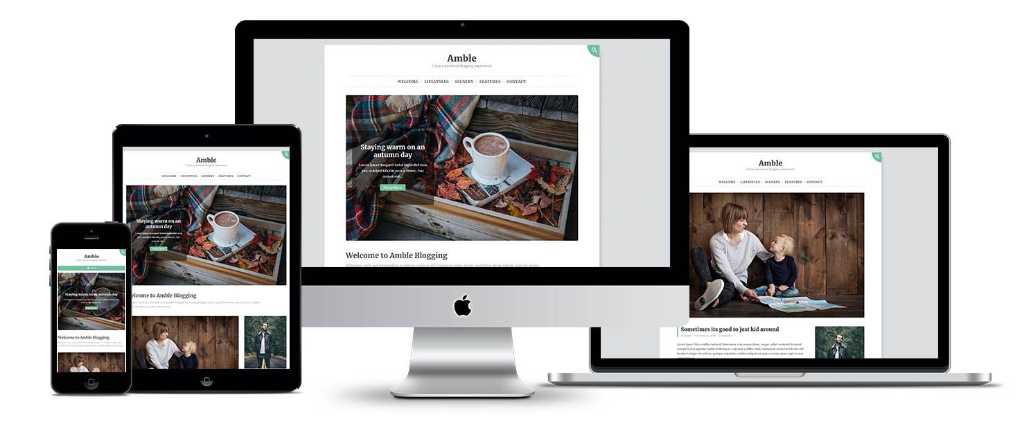Amble WordPress theme screenshot