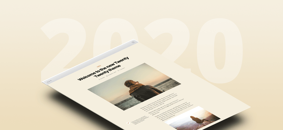 WordPress Twenty Twenty theme screenshot