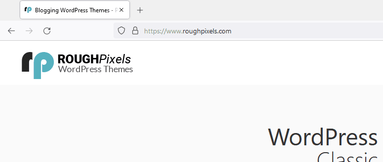 Added website icon to the browser tab or address bar